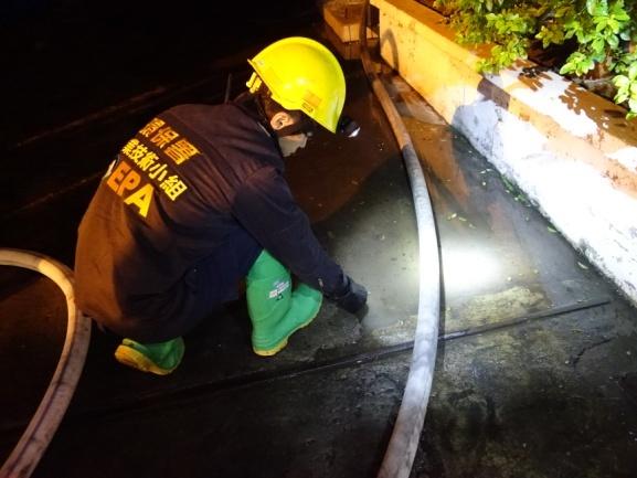 現場消防廢水pH值量測