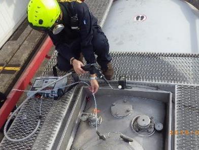 進行洩漏源監測及空氣採樣袋採樣