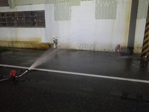 起火點水霧防護作業