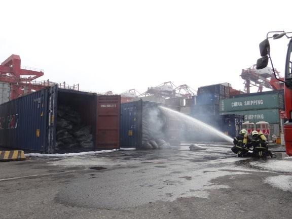 貨櫃悶燒情形
