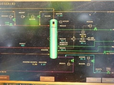 廠內控制室氧化槽監控