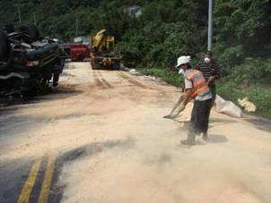 路面殘液清除