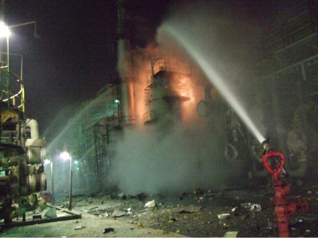廠區事故發生現場