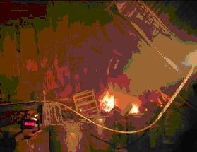 發生火災事故倉儲區