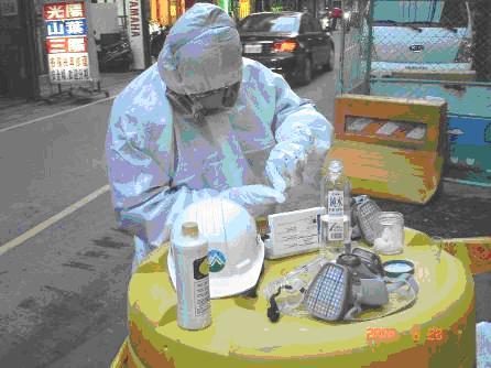 以氰化物檢知組檢測廢棄化學品是否含氰化物