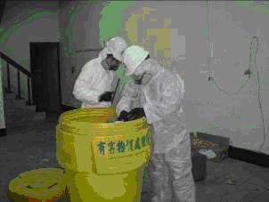 以95加侖除污桶暫存廢液