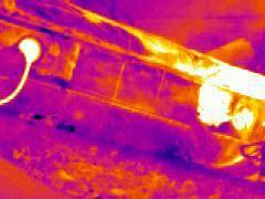 現場移槽的紅外線熱像圖