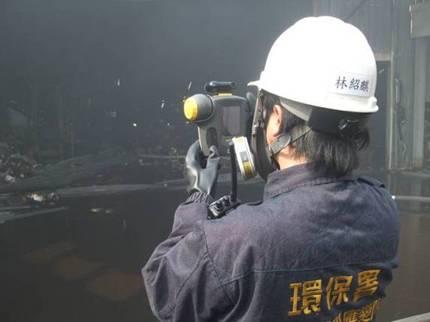 使用紅外線熱像儀監看事故點溫度