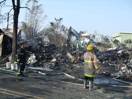 廠房燒毀情形