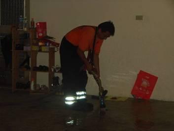 消防水清洗及稀釋