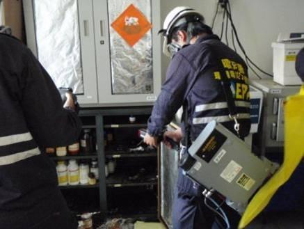 使用四用及FID偵測器偵測現場濃度