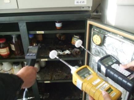 用PID偵測器偵測現場濃度
