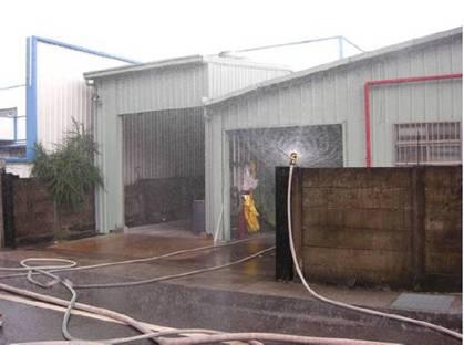 水霧防護吸收空氣中酸氣
