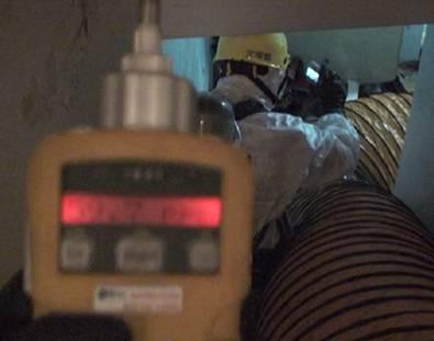 使用PID偵測器偵測現場濃度