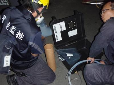 使用空氣採樣箱執行現場濃度採樣