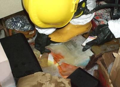 利用pH試紙進行消防廢水檢測