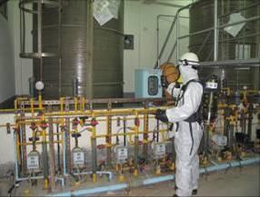 四用氣體偵測器進行現場監測