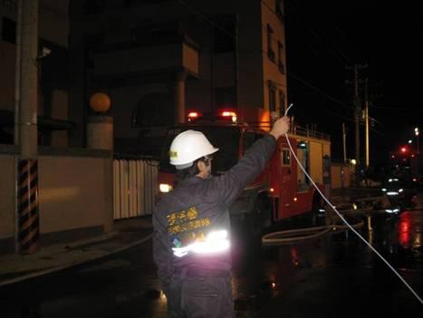 應變人員以FTIR進行事故現場環境空氣監測