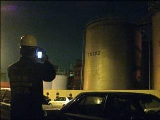 熱影像儀進行毒化物儲槽測量