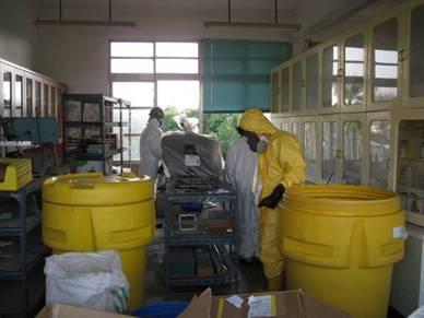 清理理化教室