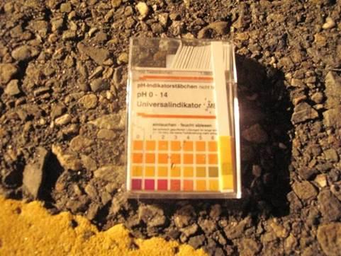 除污後路面之pH量測
