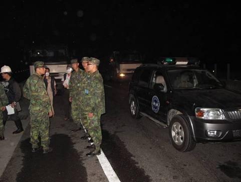 國軍36化兵群運送器材支援現場