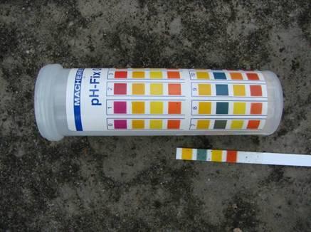 水質檢測結果pH 7