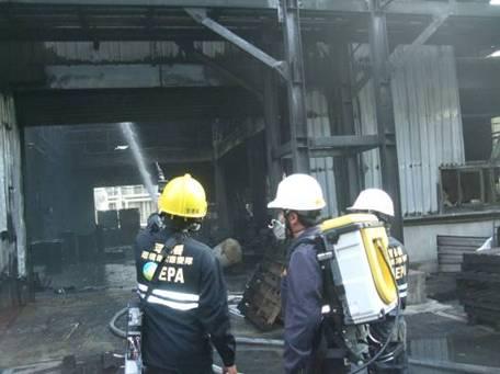 事故現場進行FID、Portable GC/MS、四用氣體偵測器監測