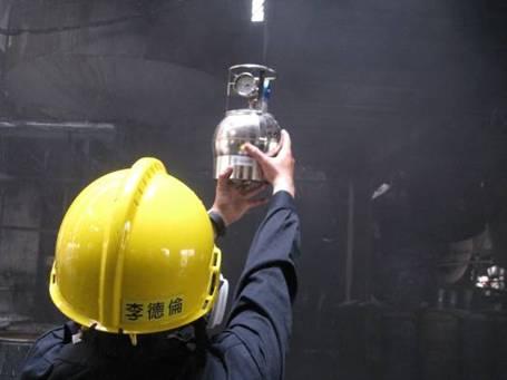 於製七區及製八區內以不鏽鋼採樣瓶進行空氣樣品採樣