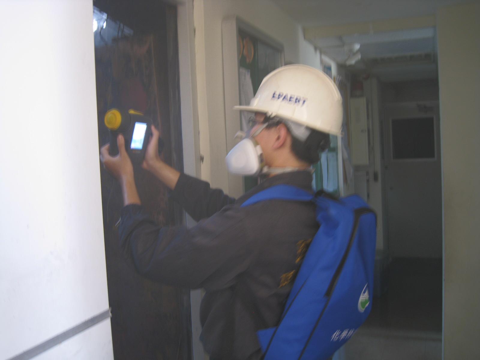 以熱影像儀監測現場溫度