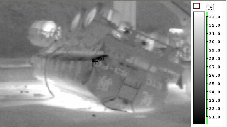 事故槽車熱影像