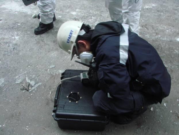 事故地點空氣採樣箱採樣