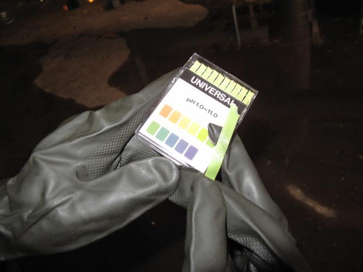 事故現場消防廢水pH檢測