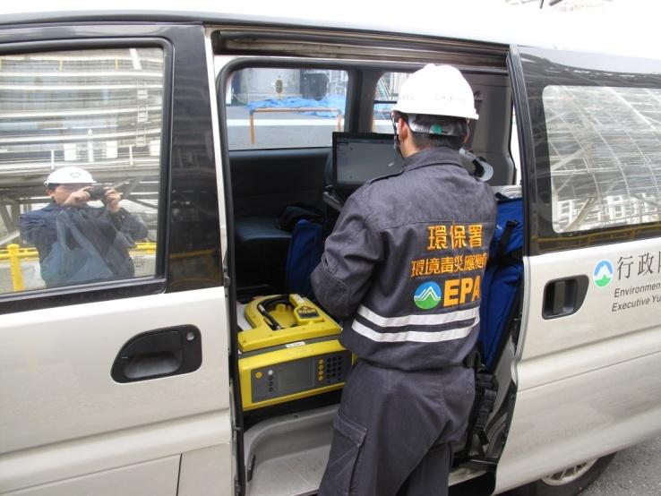 事故現場進行GC/MS環境監測
