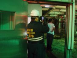 熱影像儀進行事故點監測