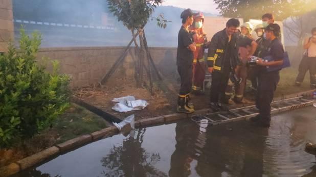 事故現場廢水圍堵
