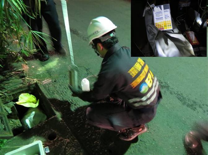 消防廢水水體採樣及pH值分析