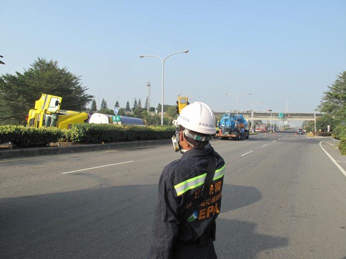 事故現場以四用氣體檢測