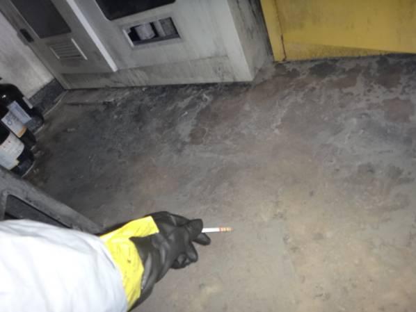 現場地面消防廢水pH值量測