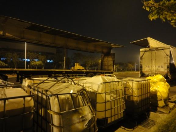 移槽完成之現場廢棄物