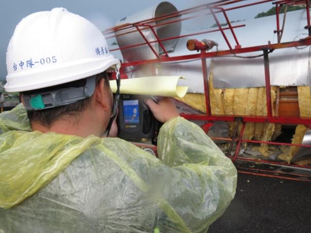 熱影像儀監測槽體溫度