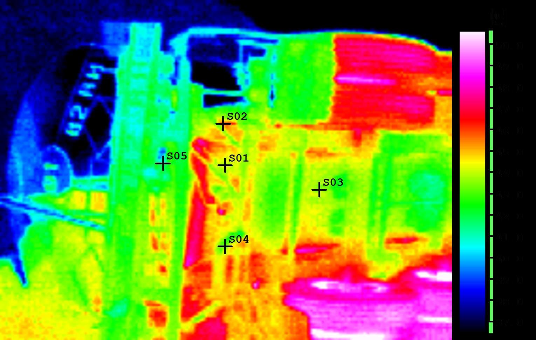 熱影像儀監測照片
