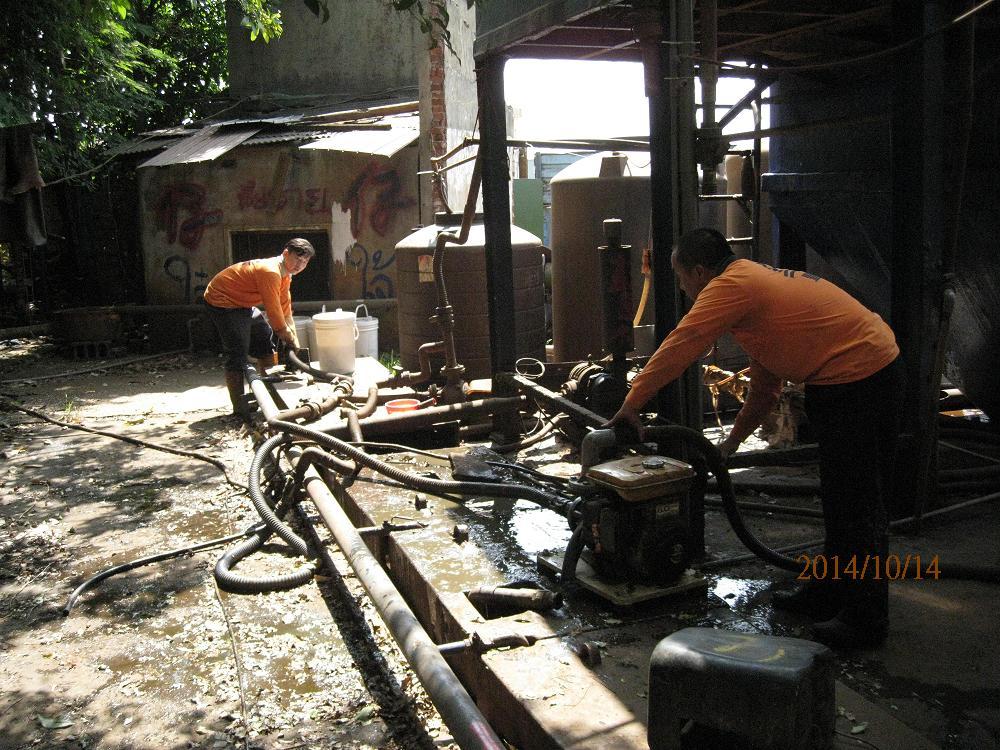 消防廢水抽取作業